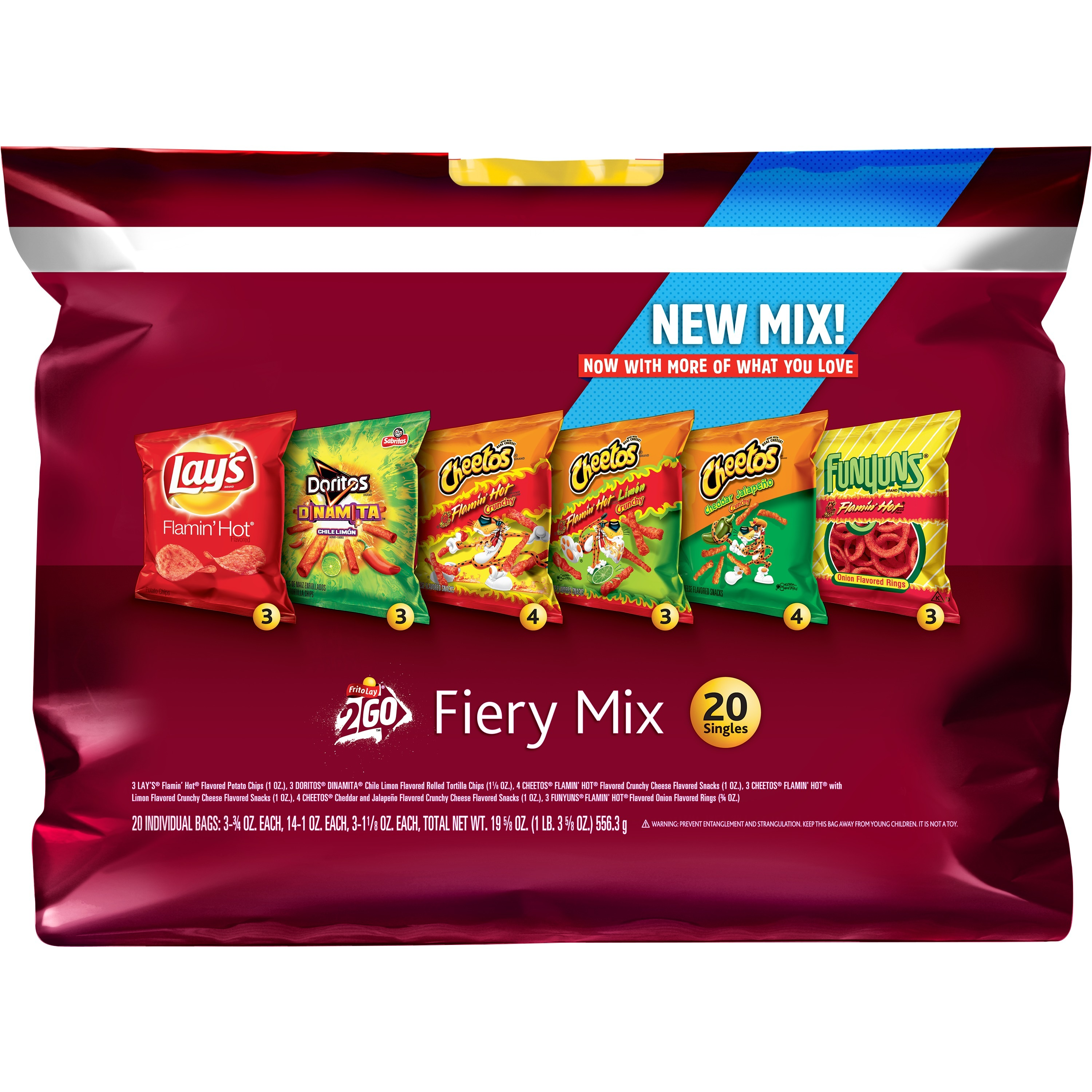 (Pack of 2) Frito-Lay Fiery Mix Variety Pack, 20 Count