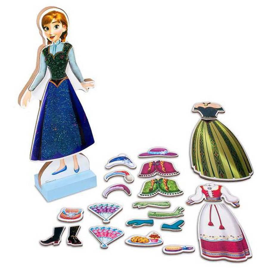 Disney Frozen Anna /& Elsa Magnetic Activity Fun Dress Up Fashion Set NEW