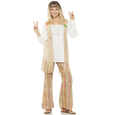 Woodstock Halloween Costume (Hippie Flower Child Womens 60'S 1970'S Woodstock Halloween)