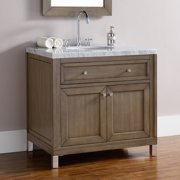 """James Martin Vanities 305-V36 Chicago 36"""" Single Free Standing Or Wall Mounted / - White"""