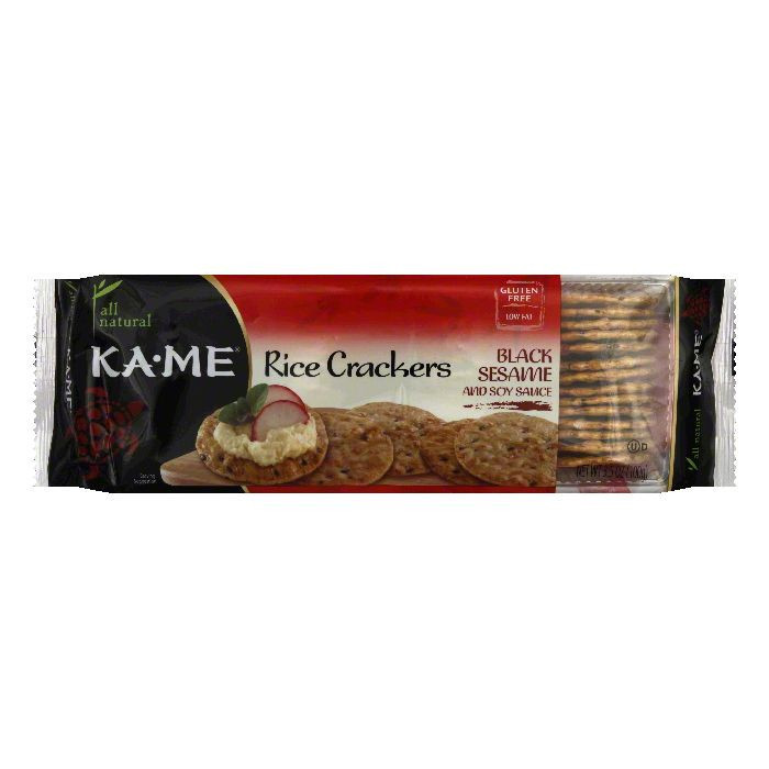 Ka Me Rice Crackers, Black Sesame and Soy Sauce