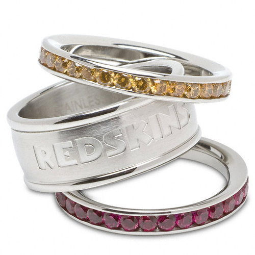 NFL - Washington Redskins Team Logo Crystal Stacked Ring