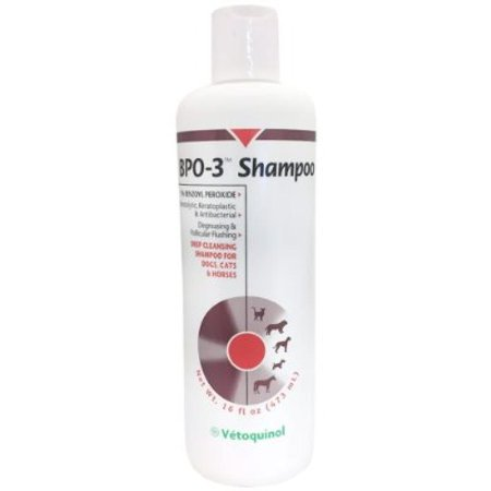 Vet Solutions BPO 3 Shampoo 3% Benzoyl Peroxide (16 oz) ()