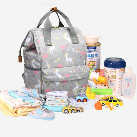 Wide Open Designed Baby Diaper Bag, Vbiger Multi-Function Travel Backpack Nappy Tote Bags for Mom & Dad, Large Capacity, (Coach Peyton Signature Multifunction Tote And Diaper Bag)