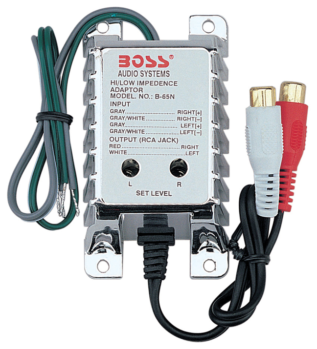 Car Audio Plug Converter, 2-channel Impedance High Low Rca Converter Car Audio