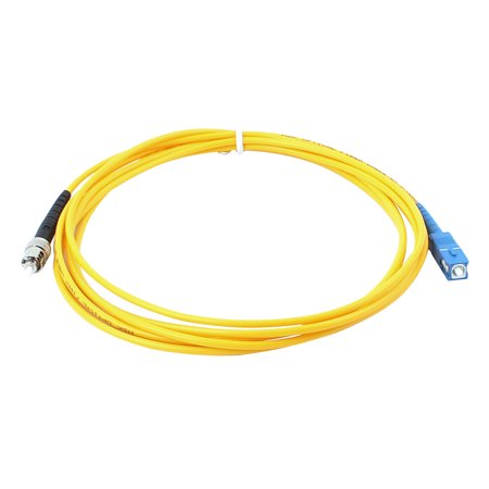 - 2 Pcs SC to ST Male Single Mode Fiber Optic Patch Cable Jumper  3 Meter