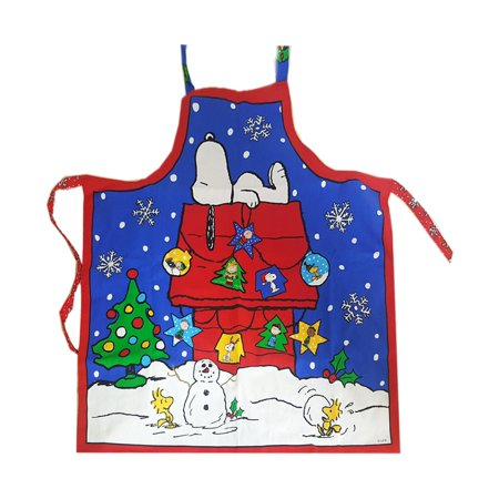 snoopy peanuts gang white christmas apron - Christmas Apron