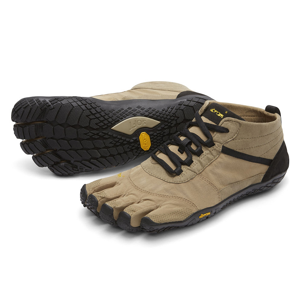 Vibram Men's V-Trek Outdoor Shoe Khaki/Black
