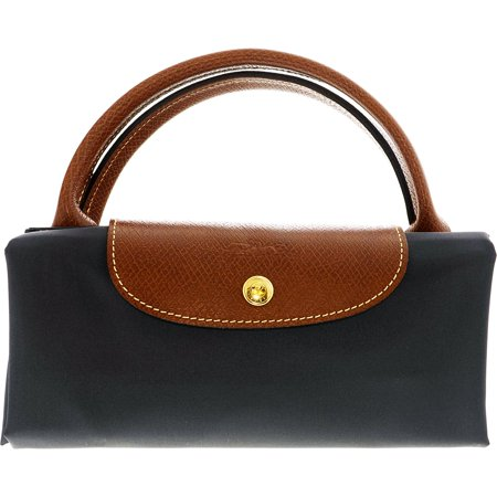 Longchamp Women s Medium Le Pliage Nylon Shopper Bag Rubber Top-Handle Bag  Tote - Fusil - Walmart.com da98dc157d