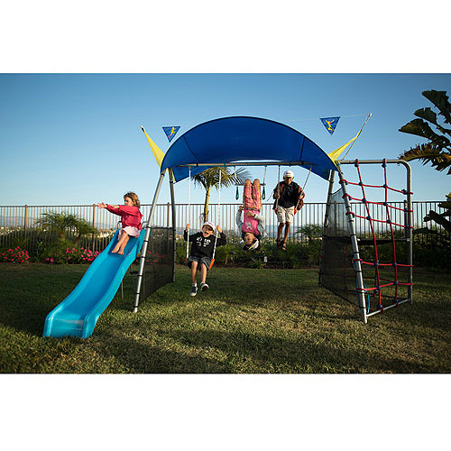 IRONKIDS Inspiration 300 Refreshing Mist Swing Set with Rope Climb and Expanded UV Protective Sunshade  sc 1 st  Walmart & IRONKIDS Inspiration 300 Refreshing Mist Swing Set with Rope Climb ...