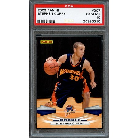 2009 10 Panini 307 Stephen Curry Golden State Warriors Rookie Card Psa 10