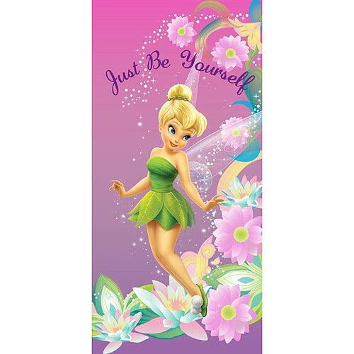 Disney Tinkerbell Pretty Girl Beach Towel, Pink