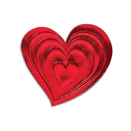 50/ Red Heart Envelope Seals - 1 -1/2x1 -3/8