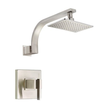 Ceramic Trim Shower (Danze D512544BNT Sirius Single Handle Shower Trim Kit with Efficient Flow Showerhead, Brushed Nickel )