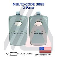 2 Pack 3089 Linear Multi-Code Remote Transmitter Gate Garage Opener Brand New