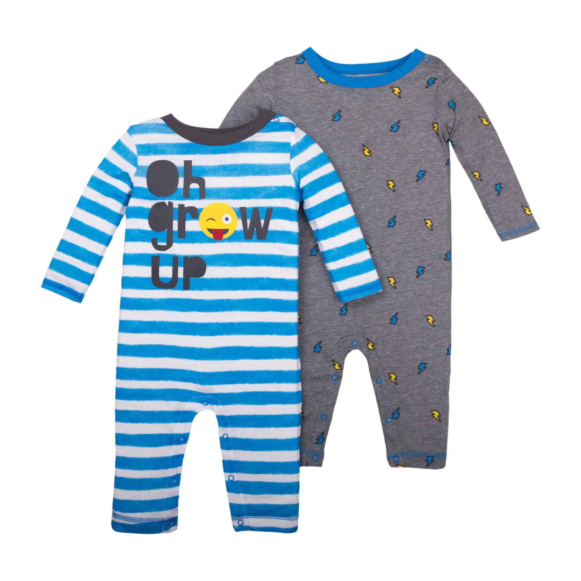 6012f3bccd78 Little Star Organic - Newborn Baby Boy Long Sleeve One Piece Romper ...