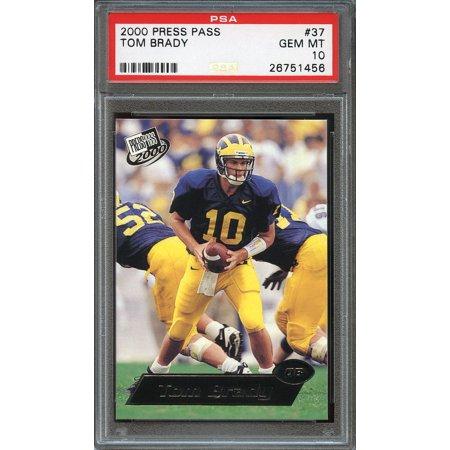 2000 Press Pass  37 Tom Brady New England Patriots Rookie Card Psa 10