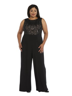 11a58245a665f Product Image Women s Plus Size 1 Piece Embellished Sequined Jumpsuit