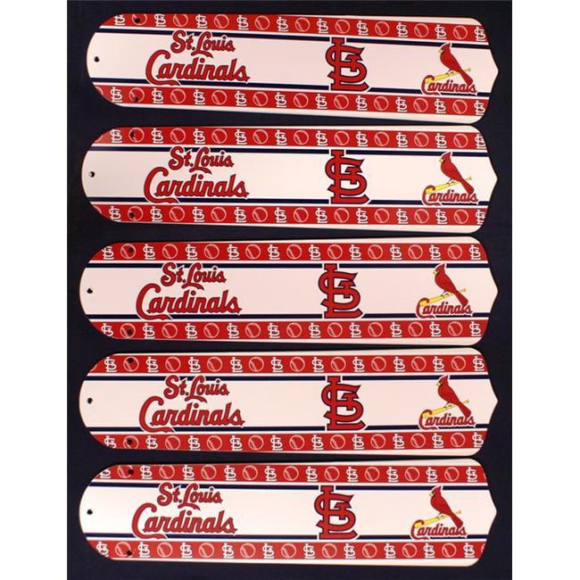 Ceiling Fan Designers 52SET-MLB-STL MLB St. Louis Cardinals Baseball 52 In. Ceiling Fan Blades ONLY