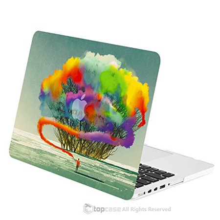 TOP CASE - Retina 15-Inch Art Printing Series Graphics Rubberized Hard Case Cover for Macbook Pro 15