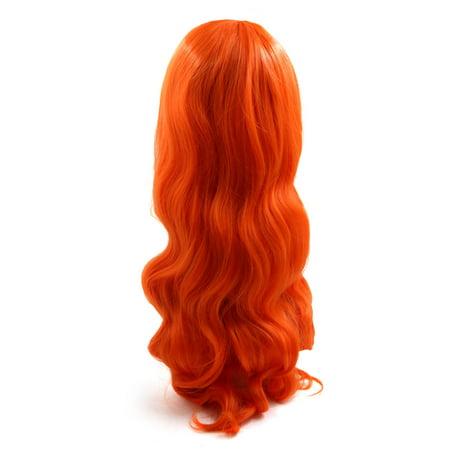 """31.5"""" longueur Perruque longue de cheveux synthétiques brésiliens Orange - image 1 de 4"""