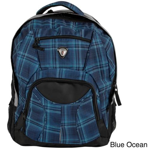 CalPak Mentor 17-inch Deluxe Backpack with 15-inch Laptop Compartment Blue Ocean