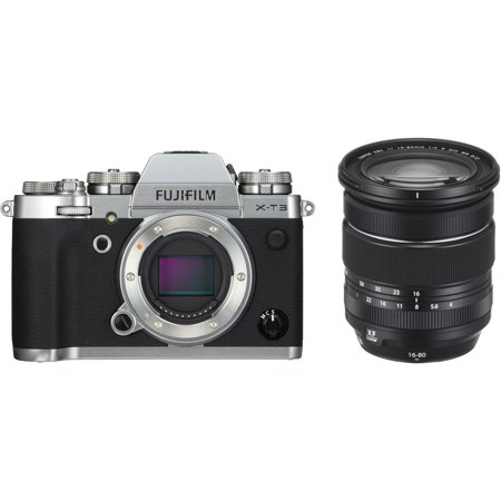 Fujifilm X-T3 26.1MP Mirrorless Digital Camera with XF 16-80mm F4.0 R OIS WR Lens(Silver)