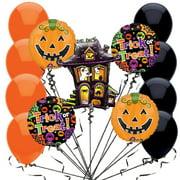 Veil Entertainment Haunted House Big Halloween 14pc Balloon Pack