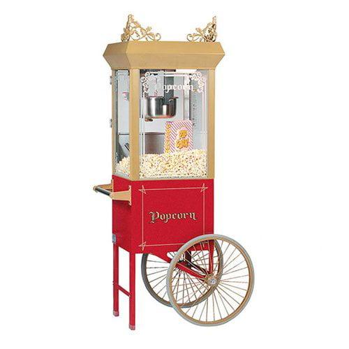 Bass 6 oz Antique Popcorn Machine w  Cart by Bass
