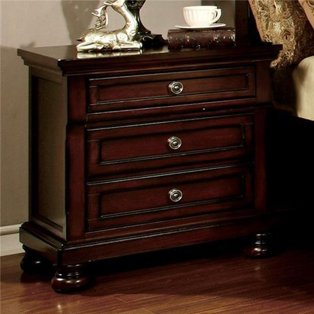 Northville Transitional Night Stand, Dark Cherry ()