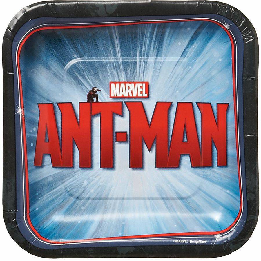 "9"" Ant-Man Square paper Party Plate, 8ct"