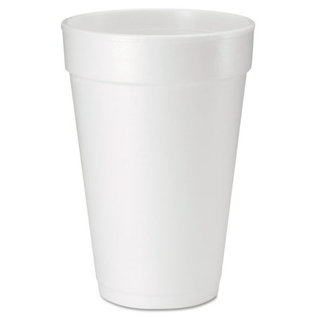 Dart Drink Foam Cups, 16 oz, White, 20/Bag, 25 Bags/Carton Dart Big Drink Cup