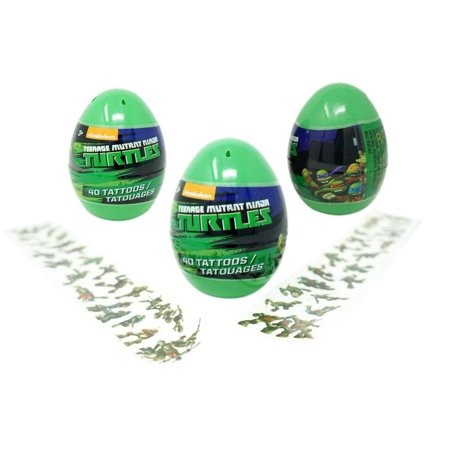 Ninja Turtles Tattoos (Teenage Mutant Ninja Turtles Eggs with Temporary Tattoos - 5 Inches)