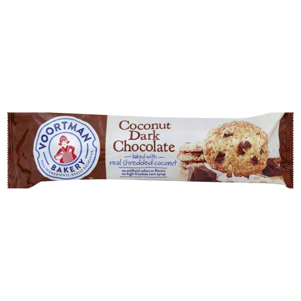 Voortman Coconut Dark Chocolate Cookies, 12.3 Oz.