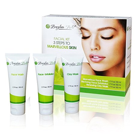 Brazilian Belle 3 in 1 Skin Renewing System: The Anti-Aging, Acne, Blackhead and Wrinkle Treatment Everyone?s Talking About. Includes: Bentonite Clay Mud Mask,Facial Exfoliator & Face Wash (9oz)