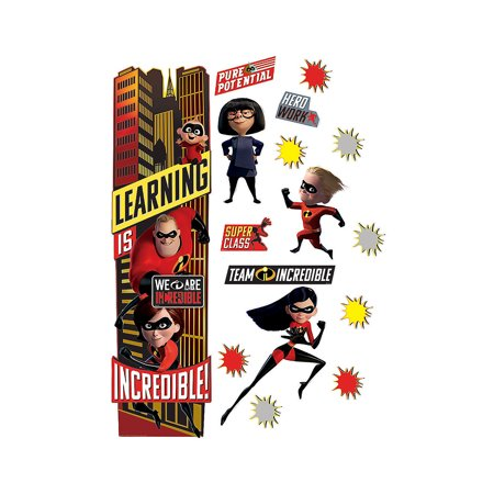 Fun Express - The Incredibles Door Decor Kit - Educational - Classroom Decorations - Classroom Decor - 33 Pieces](Winter Door Decorations For Classrooms)