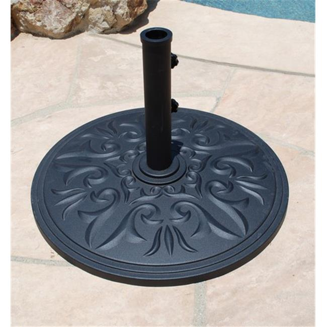 Galtech Cast Aluminum Base - Black - 75 lbs
