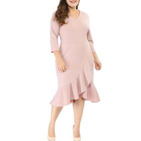 Ella Samani Women\'s Plus Size Bubble Sleeve Dress