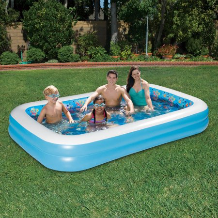 summer waves 3d dolphin family pool - Rectangle Inflatable Pool