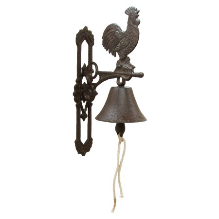 New Metal Wall Mount Rooster Welcome Bell Rustic Country Farmhouse Kitchen - Rustic Country Decor
