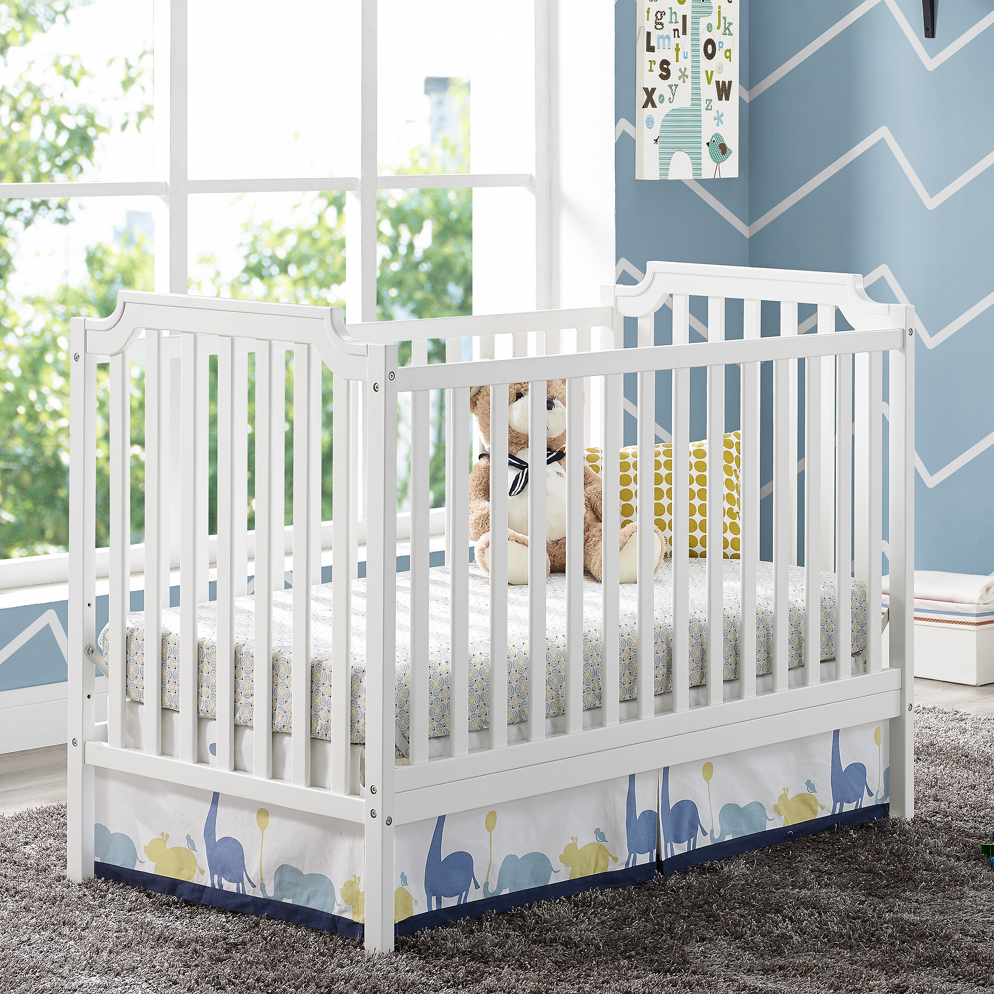 Baby Relax Willow 2-in-1 Convertible Crib, White