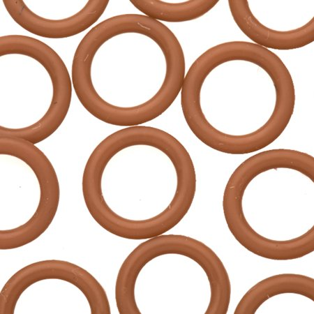 25pcs Blown O-Ring For Licorice Leather 2x12mm