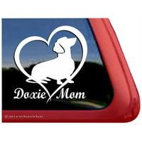 Doxie Mom | Dachshund Love Heart High Quality Vinyl Dog Window Decal