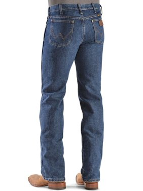 wrangler men's premium performance advanced comfort cowboy cut jean, mid stone, 29wx32l