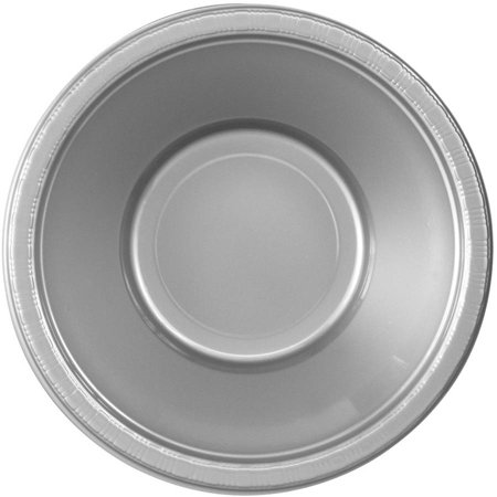 Shimmering Silver, Silver, Plastic Bowls, 20pk