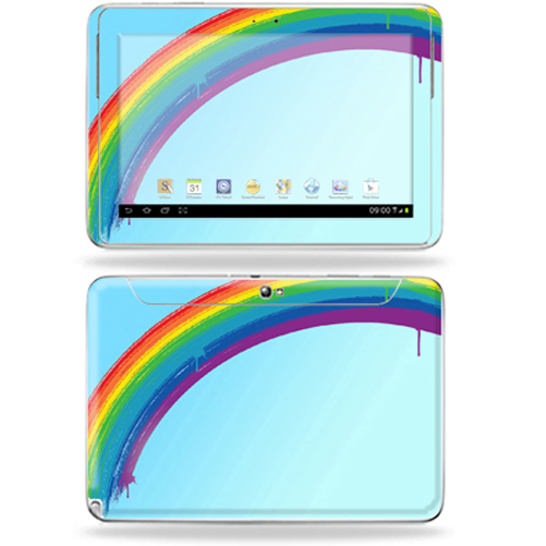 "Mightyskins Protective Skin Decal Cover for Samsung Galaxy Note 10.1"" inch Tablet wrap sticker skins Rainbow"