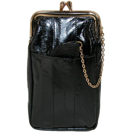 1 Cigarette Case (Women's Eel Skin Cigarette Case with Snap Closure)