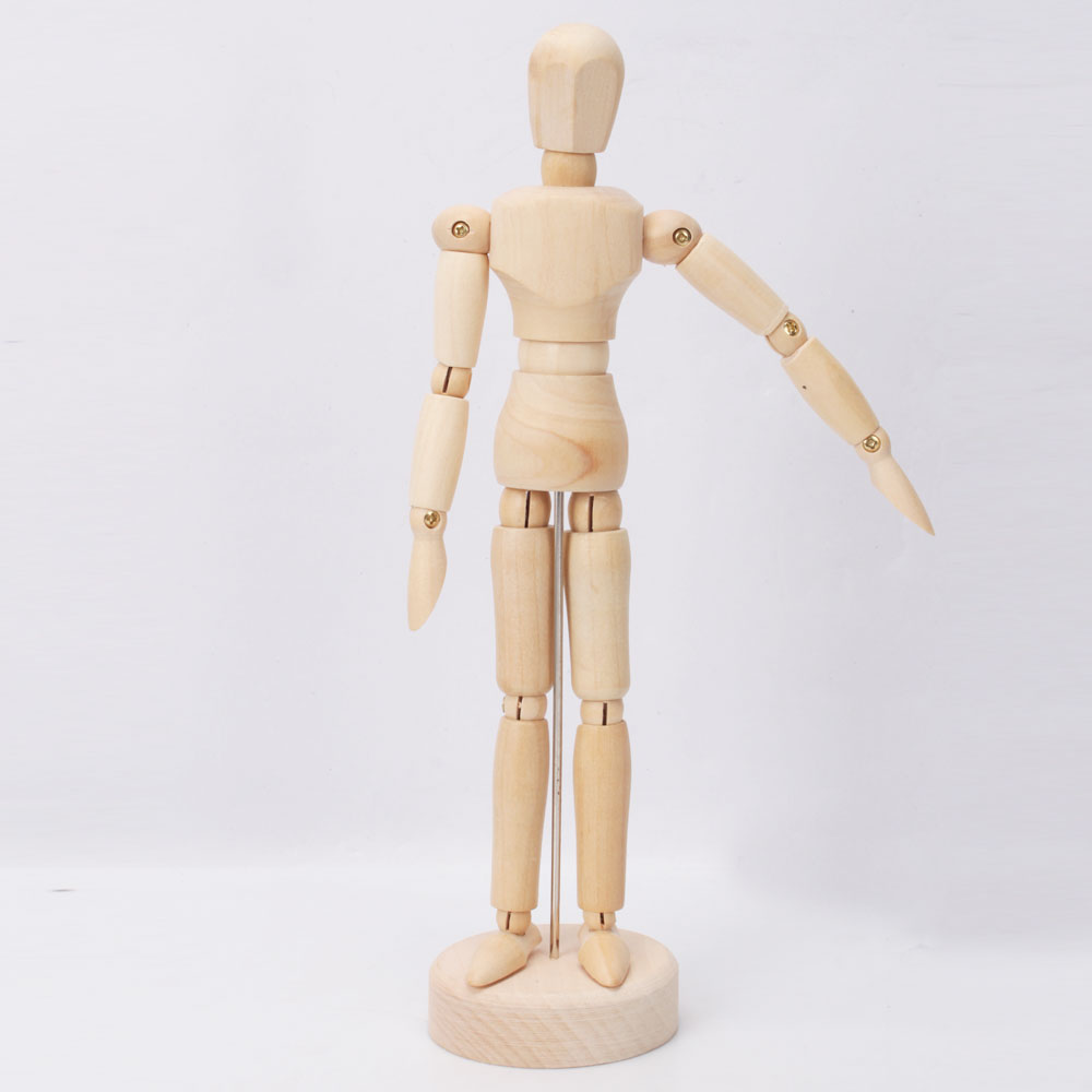 Zimtown Wooden Figure Male Manikin Mannequin For Table