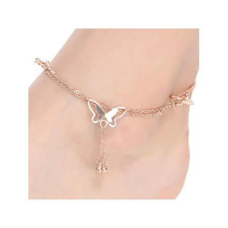 Women Fashion Barefoot Sandal Beach Butterfly Shape Charm Anklet Bracelets Chain Anklets