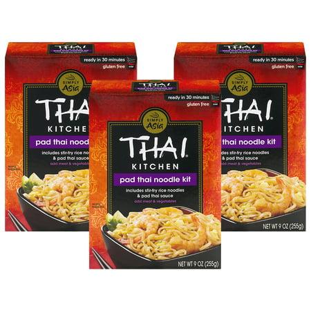 Vinyl Thai Pad ((3 Pack) Thai Kitchen Gluten Free Pad Thai Noodle Kit, 9 oz )